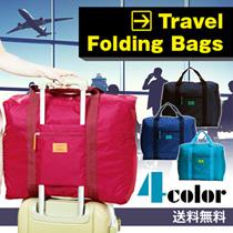 【旅行で大活躍♪♪】折りたたみ/旅行バッグ / スーツケース対応  /キャリーに通せる多機能/ トラベルバッグ/キャリーケース/旅行カバン
