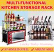 Kitchen Rack/ Storage Organizer/Holder Adjustable Shelf/Movable Shelving Cabinet/Microwave Oven stan