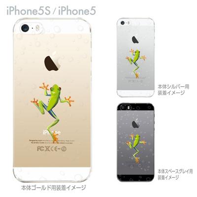 【iPhone5S】【iPhone5】【iPhone5】【ケース】【クリア カバー】【スマホケース】【クリアケース】【ハードケース】【着せ替え】【イラスト】【せまるカエル】 ip5-08-ca0032の画像