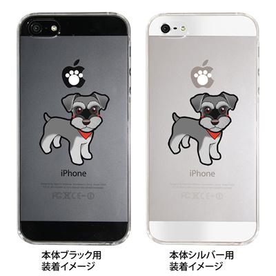 【iPhone5S】【iPhone5】【まゆイヌ】【Clear Arts】【iPhone5ケース】【iPhone カバー】【スマホケース】【クリアケース】【クリア】【ハードケース】【着せ替え】【イラスト】【ミニチュアシュナウザー】 26-ip5-md0024 【10P01Sep13】の画像