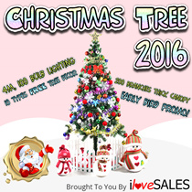 1.5m Full Size Christmas Tree - FREE 10 TYPES DECOR AND LIGHTING - (Pre-Order - Delivery/Collection Starts After 2nd Nov)