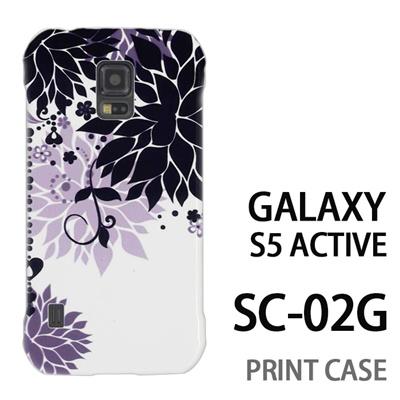 GALAXY S5 Active SC-02G 用『0114 花のオブジェ 黒』特殊印刷ケース【 galaxy s5 active SC-02G sc02g SC02G galaxys5 ギャラクシー ギャラクシーs5 アクティブ docomo ケース プリント カバー スマホケース スマホカバー】の画像