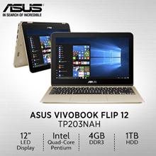 ASUS Vivobook Flip TP203NAH-BP049T/11.6/Intel®Quad-Core Pentium® N4200 /DDR3 4GB/1TB  /1 Yr Warranty