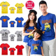 [buy 3 free shipping]2015New Arrival/Cartoon Family T-shirts /Despicable Me-the Minions/Superman/Zebra/Giraffe/Navy Style/Bow-tie/Parent-child/Family Wear