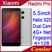 Xiaomi Mi Redmi Pro/ Dual Back Camera/ 4050 mAh Battery/ 5.5 OLED Cell Phone/ Max 4GB RAM 128GB ROM MTK Helio X20/ Fingerprint ID/ 13.0MP Deca Cores/Metal Body   【M18】