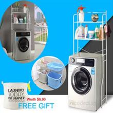 [FREE GIFT] Washing Machine rack/toilet Rack/2 tier Laundry basket/space saving storage organizer multipurpose organiser bathroom toilet kitchen rack