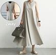 ★韓国ファッション『Naning9』★満足度90%★2WAYスタイル演出できるワンピース★時にはゆったりフィットに、時にはスリムフィットに★体型カバーに効く/ハイクオリティーイージールック