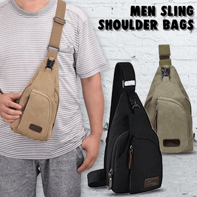 Men Sling Shoulder Bags / Body Pack Bag / Tas Selempang Pria Bahan Jeans