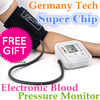 Digital Upper Arm Blood Pressure Pulse Monitor Health Care Monitor Meter Sphygmomanometer Portable Monitors/ Wrist Blood Pressure Digital LCD Screen Heart Beat Pulse Monitor Meter Cuff