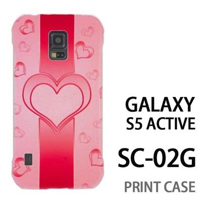 GALAXY S5 Active SC-02G 用『No4 ハートライン ピンク』特殊印刷ケース【 galaxy s5 active SC-02G sc02g SC02G galaxys5 ギャラクシー ギャラクシーs5 アクティブ docomo ケース プリント カバー スマホケース スマホカバー】の画像