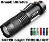 TouchLight American Extreme Brightness CREE LED Torch XML Q5 Torchlight Flashlight Outdoor Portable lightsBike Bicycle Cycling Mounted Flashlight Touch Light Holder Bracket Black Rubber Plastic