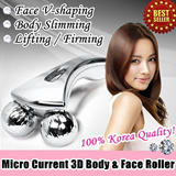 Micro Current 3D Body Face Roller for Lifting/ Firming/ shape V-Line/ Anti-cellulite/ Body Massage/ Facial Care 360 degree/ Refa Similar design