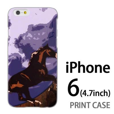 iPhone6 (4.7インチ) 用『No1 H 青空の馬』特殊印刷ケース【 iphone6 iphone アイフォン アイフォン6 au docomo softbank Apple ケース プリント カバー スマホケース スマホカバー 】の画像