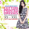 [PRINTED COTTON DRESS] New Arrivals/ XS-XXL/PLUS SIZES/ PREMIUM COLLECTION/ COTTON PRINTED DRESS/ DINNER/ PARTY/ WEDDING /OFFICE DRESS/ WORK/ PLUS SIZE