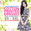 [PRINTED COTTON DRESS] New Arrivals/ XS-XXL/PLUS SIZES/ PREMIUM COLLECTION/ COTTON PRINTED DRESS/ DINNER/ PARTY/ WEDDING /OFFICE DRESS/ WORK/ PLUS SIZE