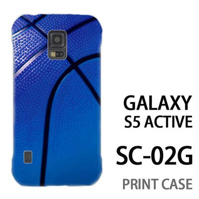 GALAXY S5 Active SC-02G 用『No4 バスケットボール 青』特殊印刷ケース【 galaxy s5 active SC-02G sc02g SC02G galaxys5 ギャラクシー ギャラクシーs5 アクティブ docomo ケース プリント カバー スマホケース スマホカバー】の画像