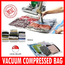 Vacuum Storage BAG / Clothes / Hand roll seal bag★Easily without vacuum!★Travel Bag Air tight Space compression Foldable storage box/ Travel Pack/  Best Present and gifts for Christmas