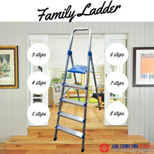 [LIGHT Weight] Foldable family ladder made with Aluminium. *The ladder in the photo is 5 STEPS!*