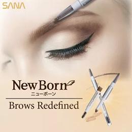 1+1★2 SET SANA NewBorn W Brow EX 3 IN 1 Eyebrow Pencil Long Lasting Makeup Eyebrow Pencil