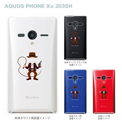 【AQUOS PHONEケース】【203SH】【Soft Bank】【カバー】【スマホケース】【クリアケース】【MOVIE PARODY】【ユニーク】【冒険家】 10-203sh-ca0030の画像