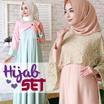 Hijab set - gamis pesta + pashmina trendy