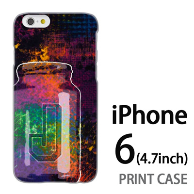 iPhone6 (4.7インチ) 用『No1 J サイケデリックなビン』特殊印刷ケース【 iphone6 iphone アイフォン アイフォン6 au docomo softbank Apple ケース プリント カバー スマホケース スマホカバー 】の画像