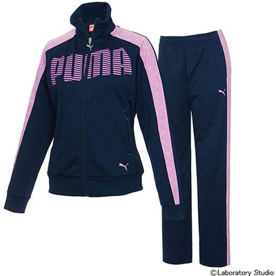 プーマ (PUMA) レディース トレーニングジャケット&パンツ 上下セット(ピーコート) 903667-04-903668-04 [分類:ジャージ 上下セット (レディース)] 送料無料の画像
