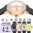 【送料無料】KLASSE14 クラス14 クラッセ 腕時計 VOLARE レザーベルト 42mm うでどけい KLASSE14 Mario Nobile ブラック ゴールド ローズゴールド メ