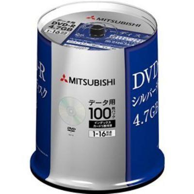 三菱化学メディアメディアDVD-R(Data)1回記録用4.7GB1-16倍速100枚スピンドルケース100PDHR47J100D5-100