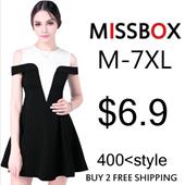 【MISSBOX】[May BIG PROMO] 2016 New Summer Plus Size Collection /Dress /Blouse/ Skirt/Midi Skirts /T-Shirts