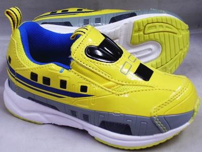(A倉庫)プラレール16099 N700系 新幹線 923型 ドクターイエロー 子供靴 スニーカー 男の子 スリッポン モデル キッズ キャラクター シューズ 靴の画像