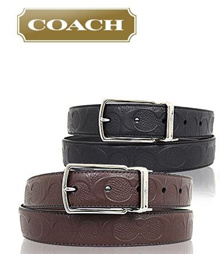COACH MENS LEATHER  BELTS-BRAND NEW WITH TAG-GUARANTEED 100% AUTHENTIC