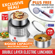 [FREE SHOWER HEAD]★Yoei★ELB 643-Double Layer Electric Lunch box