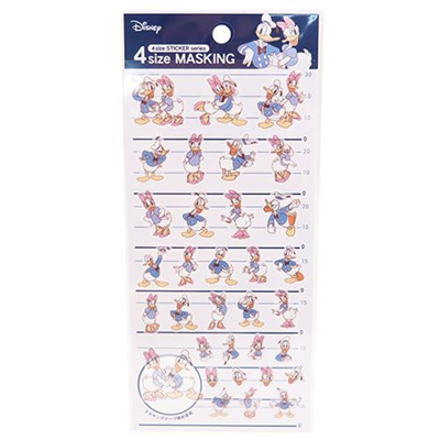 ドナルド&デイジーシール4サイズマスキングステッカー84312ディズニーカミオジャパン手帳デコかわいいキャラクターグッズ通販【メール便可】シネマコレクション■