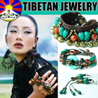 ◤COCO◥ HANDMADE TIBET JEWELRY/Hippie BraceletNecklace/BohoEclectic JewelryBohemian style/Nepal India Himalayan Vintage Handcrafted Necklace/Turquoise Coral Agate/BODHI/Dangle Ethnic Earrings