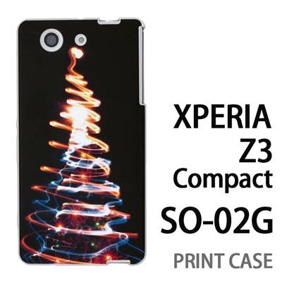 XPERIA Z3 Compact SO-02G 用『1223 ネオンツリーライトアップ ゴールド』特殊印刷ケース【 xperia z3 compact so-02g so02g SO02G xperiaz3 エクスペリア エクスペリアz3 コンパクト docomo ケース プリント カバー スマホケース スマホカバー】の画像