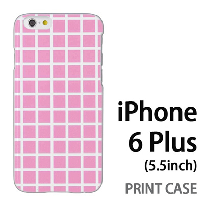 iPhone6 Plus (5.5インチ) 用『0823 ピンク チェック』特殊印刷ケース【 iphone6 plus iphone アイフォン アイフォン6 プラス au docomo softbank Apple ケース プリント カバー スマホケース スマホカバー 】の画像