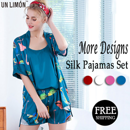 UNLIMON Silk Robe Women Sleepwear Ladies Sexy Satin Robe Nightdress Nightgown Sexy Robe Sets