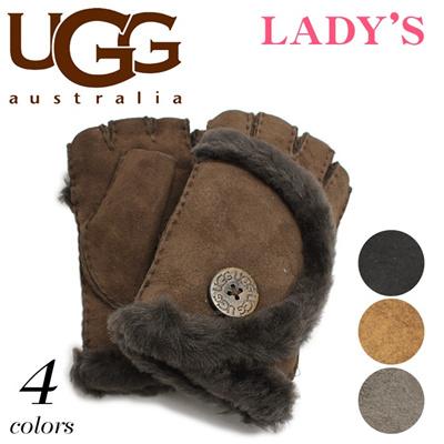 アグ オーストラリア ミニ ベイリー フィンガーレス シープスキン UGG U1467 手袋 レディースの画像