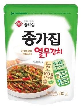 ■韓国食品■韓国本場の宗家ヨルム(大根の若菜)キムチ500g■の画像