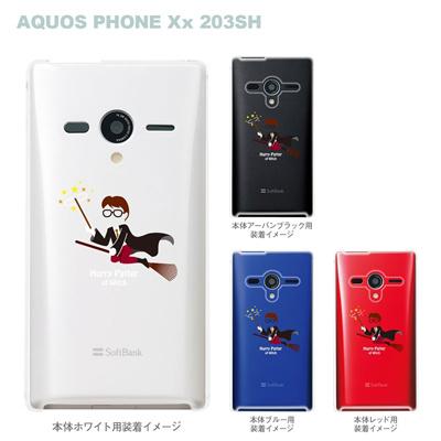 【AQUOS PHONEケース】【203SH】【Soft Bank】【カバー】【スマホケース】【クリアケース】【MOVIE PARODY】【ユニーク】【魔法使い】 10-203sh-ca0034の画像