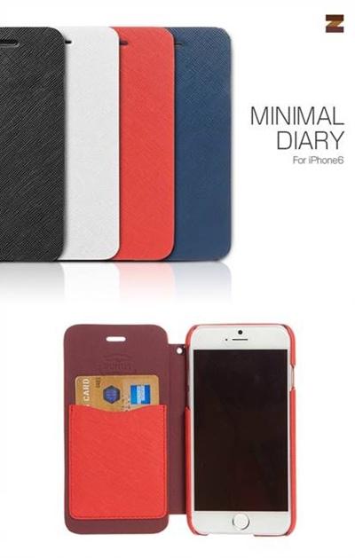 iPhone6カバーアイホン6 アイフォン6ケースiphoneケース アイフォン ブランド iphoneカバーiPhone6用 【iPhone6 4.7インチ 】 ZENUS Minimal Diary (ミニマルダイアリー)【メール便送料無料】の画像