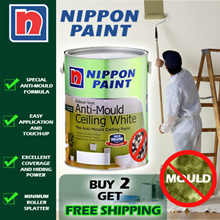 Nippon Paint Odour-less Anti-Mould Ceiling White-5L