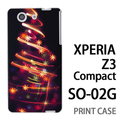 XPERIA Z3 Compact SO-02G 用『1223 花飾りツリー ゴールド』特殊印刷ケース【 xperia z3 compact so-02g so02g SO02G xperiaz3 エクスペリア エクスペリアz3 コンパクト docomo ケース プリント カバー スマホケース スマホカバー】の画像