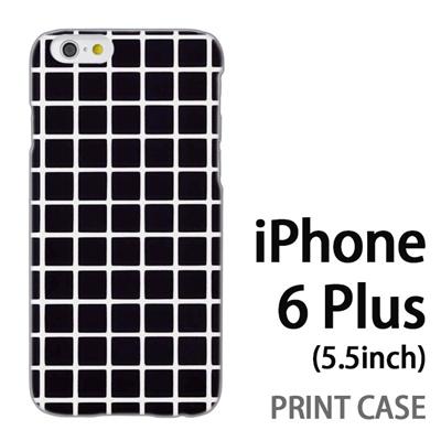 iPhone6 Plus (5.5インチ) 用『0823 黒 チェック』特殊印刷ケース【 iphone6 plus iphone アイフォン アイフォン6 プラス au docomo softbank Apple ケース プリント カバー スマホケース スマホカバー 】の画像