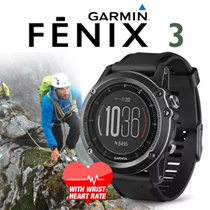 (Free Q-Points!!)Garmin fēnix® 3 HR Sapphire/Latest! with wrist heart rate/1 year local warranty[USE Your COUPONS NOW!]FREE Qxpress Shipping!