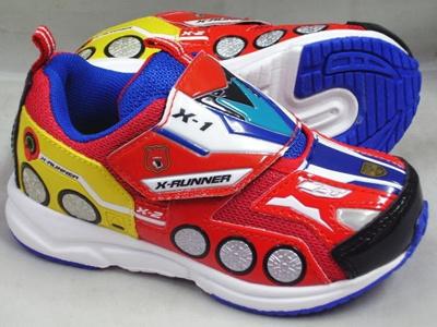 (A倉庫)【TOMICA】トミカ 10526 Xランナー 子供靴 スニーカー 男の子 マジックテープ モデル キッズ キャラクター シューズの画像