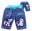 [JTKIDDO] .Clearance sale .Girls/kids children pants shorts jeans bermudas toddler jumper cartoon
