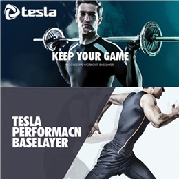 ★TESLA★ compression sports wear/Baselayer/inner wear/sleeve/Tshirt/tights/shorts thermal wintergear