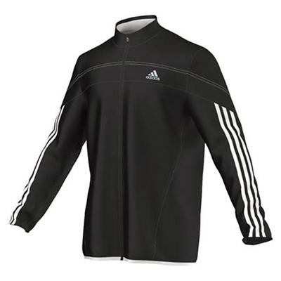 ◆即納◆アディダス(adidas) RSP ウィンドジャケット BLK/WHT AMU70 D88342 【ランニング トレーニングウェア メンズ レディース ジャージ】の画像